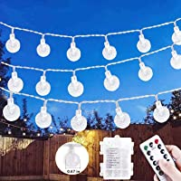 Chipark Fairy String Lights Battery Operated 32ft 100LED Globe Fairy Lights Crystal Ball Decorative Light Remote 8 Mode…