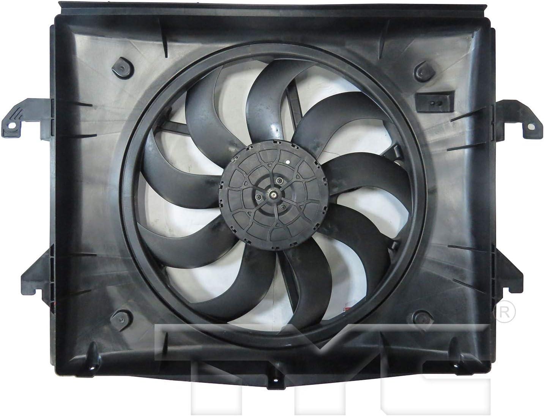 2013-2018 Ram 1500 Radiator And Condenser Fan Assembly With One Big Fan; 3.6 Liter V6; 3.0 Liter Diesel; Plastic Partslink CH3115194