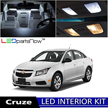 LEDpartsNow 2011 2014 Chevy Cruze LED Interior Lights Accessories  Replacement Package Kit (7 Pieces