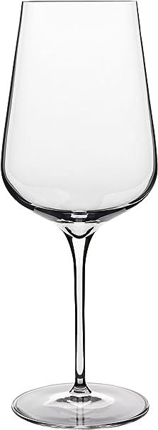 Amazon Com Luigi Bormioli Intenso No 550 18 5 Oz Red Wine Glasses Set Of 6 Clear Wine Glasses