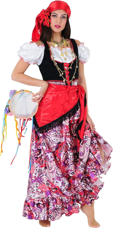 Stamco Disfraz Zíngara Floreada: Amazon.es: Juguetes y juegos