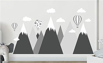 Wandtattoo Kinderzimmer Berge Aufkleber Wandaufkleber Nordic Berg Baby Kindergarten Zimmer Gebirge Luftballons Ballons Ballon Wolken Wolke Landschaft Wanddeko Baby Kinder Sticker G1l Amazon De Baumarkt