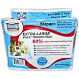 True Pet Love Extra Large Pet Wee Pads - Housebreaking Pads for Small to Large Dogs - Piddle Pads for Dogs Stuck Indoors - Waterproof Puppy Pads Dog Training - 50 Odor Control Pee Wee Pads, by