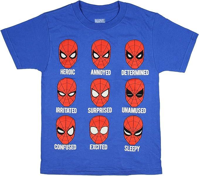 Spiderman Text Mens PRINTED T-SHIRT TV Movies Hero Movie Spidey Peter Parker
