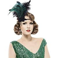 Lurrose Opaska na głowę z lat 20-tych z lat 20-tych opaska na głowę dla kobiet czarne pióro opaska na głowę lata 20-te…