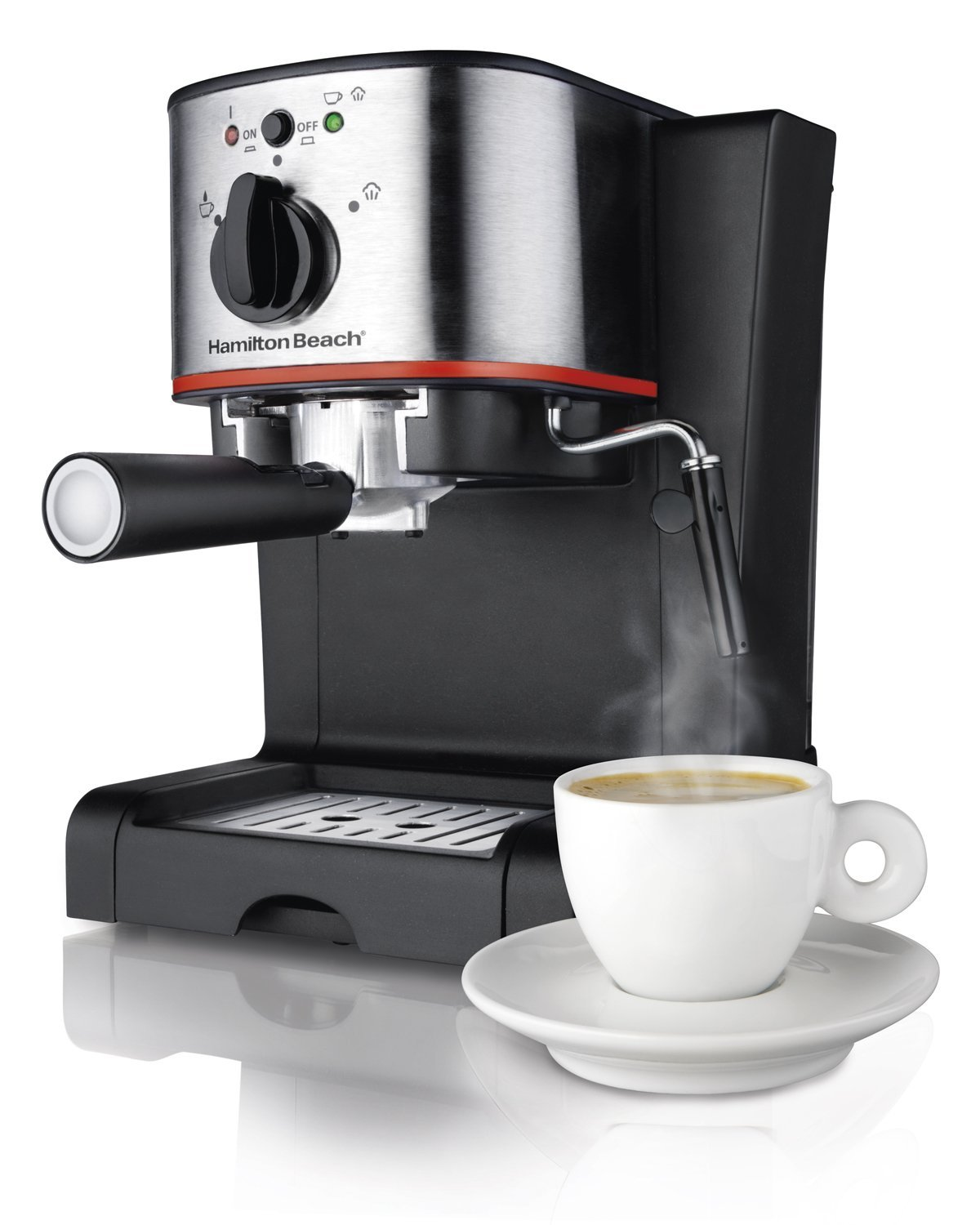NEW! Hamilton Beach Cafe Espresso Coffee Maker Counter Top Steam Machine 15 Bar eBay
