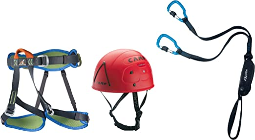 Klettersteigset Camp Vortex : Camp kit ferrata vortex with harness topaz and helmet rockstar 2018