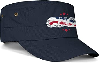 Unisex Military Hat Antigua Barbuda National Flag Vintage Flat Top Cadet Army Caps