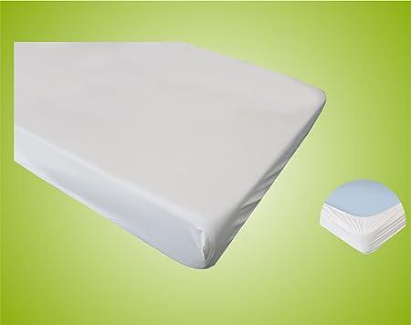 Spannbettschutz Spannbettlaken Matratzenschutzbezug, Spannbettlaken Matratzenschoner PVC wasserundurchlässig wasserdicht 90x2
