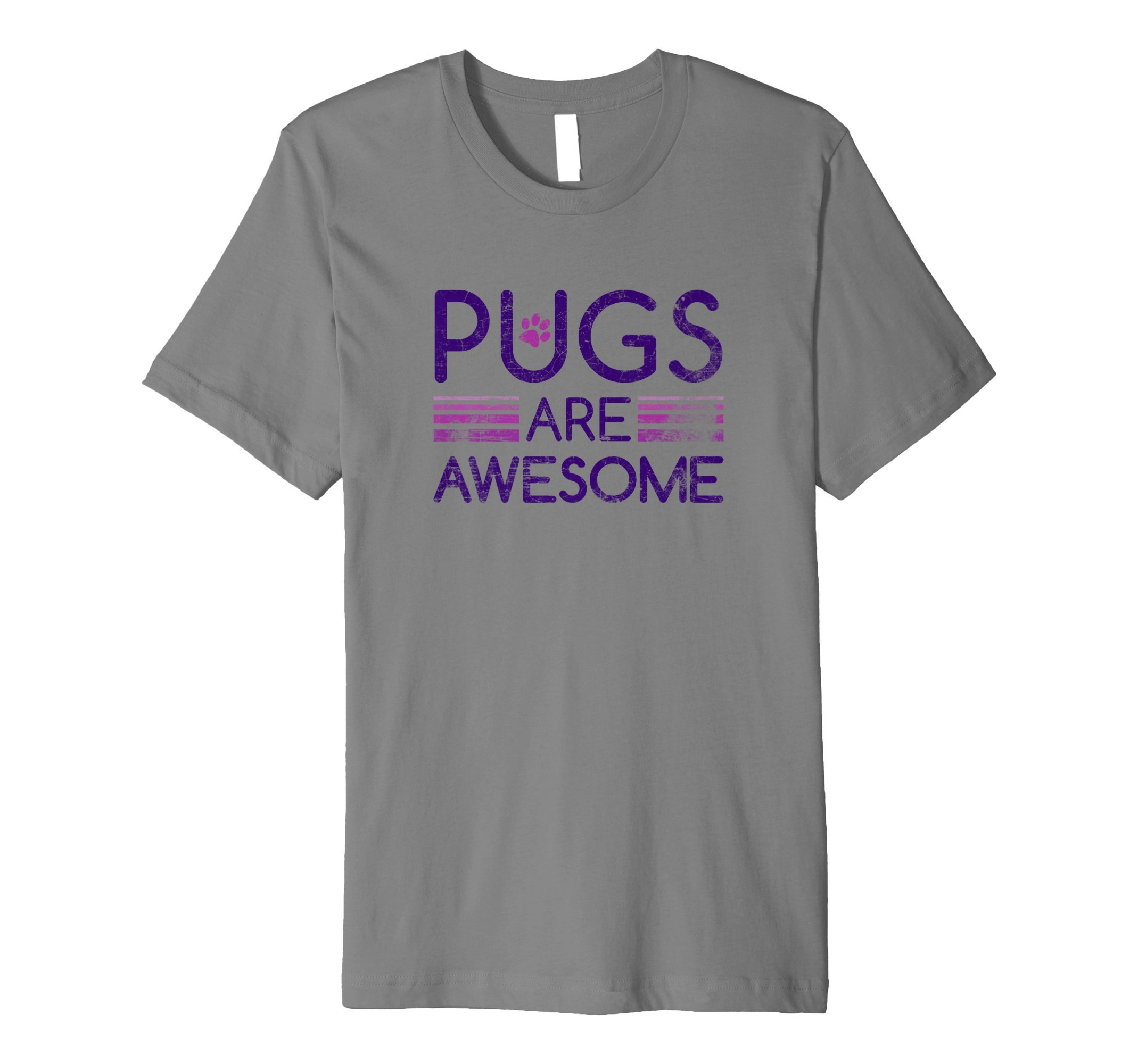 Pugs Are Awesome TShirt Cute Pet Dog Lover Animal Paw Gifts by Steamer Tees (Image #1)