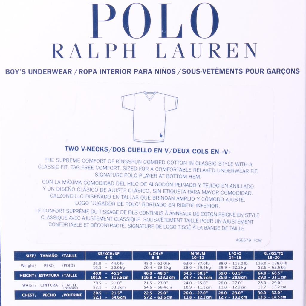Amazon.com: Polo Ralph Lauren Kids/Boys 2 Pack V-neck Undershirt: Clothing