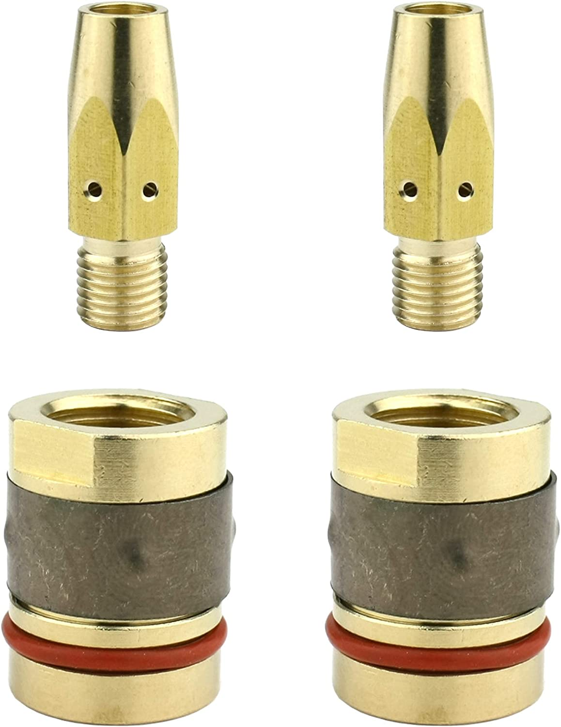 Nozzle Adaptor Models: 169-728 /& 169-729 - Replacement for Miller M-25 /& M-40 MIG Guns Gas Diffuser 2 PAIRS