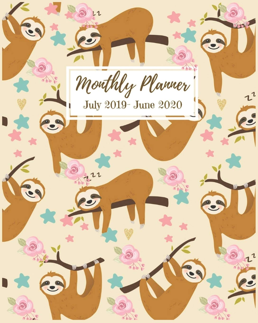 Amazon.com: Monthly Planner: Cute Sloths Panners | 2019 ...