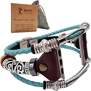 Smatiful Bands for Women, Adjustable Replacement Strap Band for Apple Watch 38mm & 40mm , Turquoise (Teal Green)