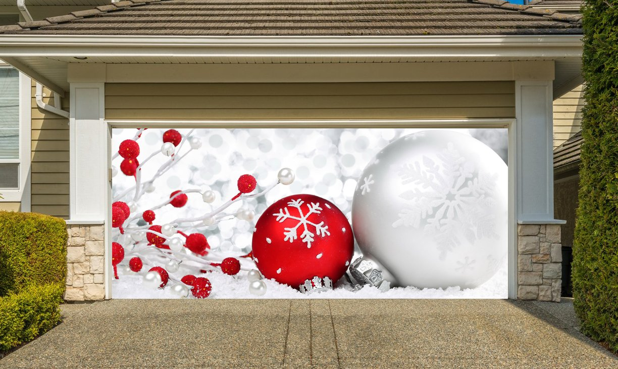 Christmas Garage Door Cover Banners 3d Holiday Outside Decorations Outdoor Decor for Garage Door G46 by Best_WallDecals_For_You