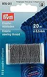 Prym - Filo da cucire elastico, 0,5mm, L.: 20m, grigio chiaro