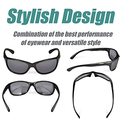 30f621bcf4 ... Duduma Polarized Sports Sunglasses Baseball Running Cycling Fishing  Golf Tr90 Durable Frame (541 Black Matte ...