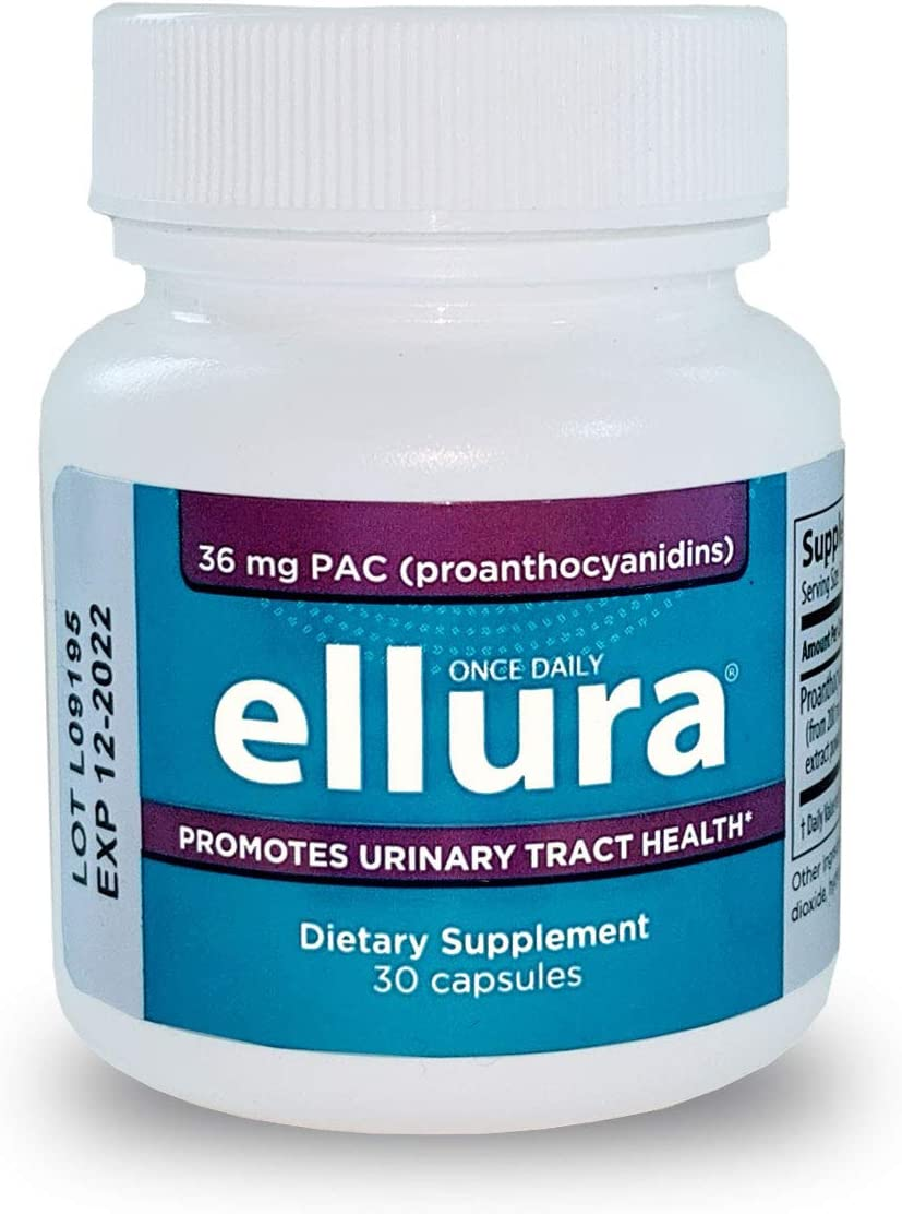 ellura 36 mg PAC (30 caps) - Cranberry Supplement for Urinary Tract Health - Highest Potency