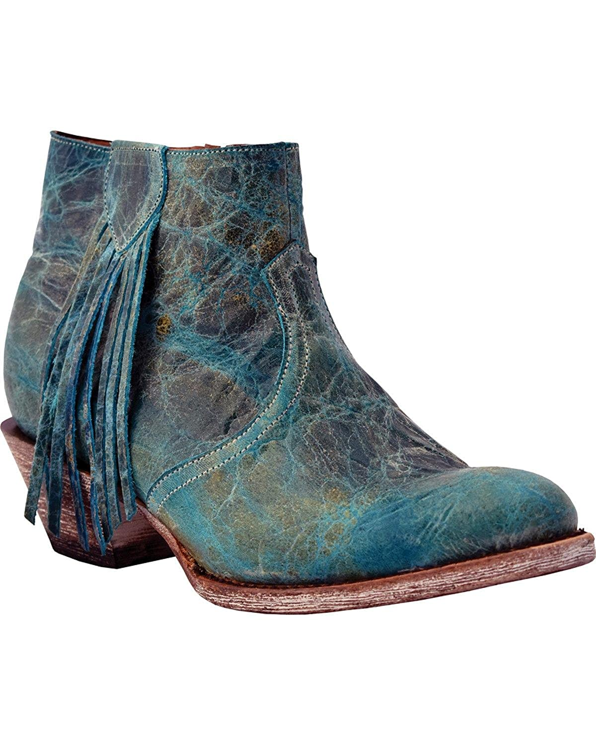 2619297d3 Ferrini Women s Fringe Bootie Ankle Boot Leather Cowboy Cowgirl ...