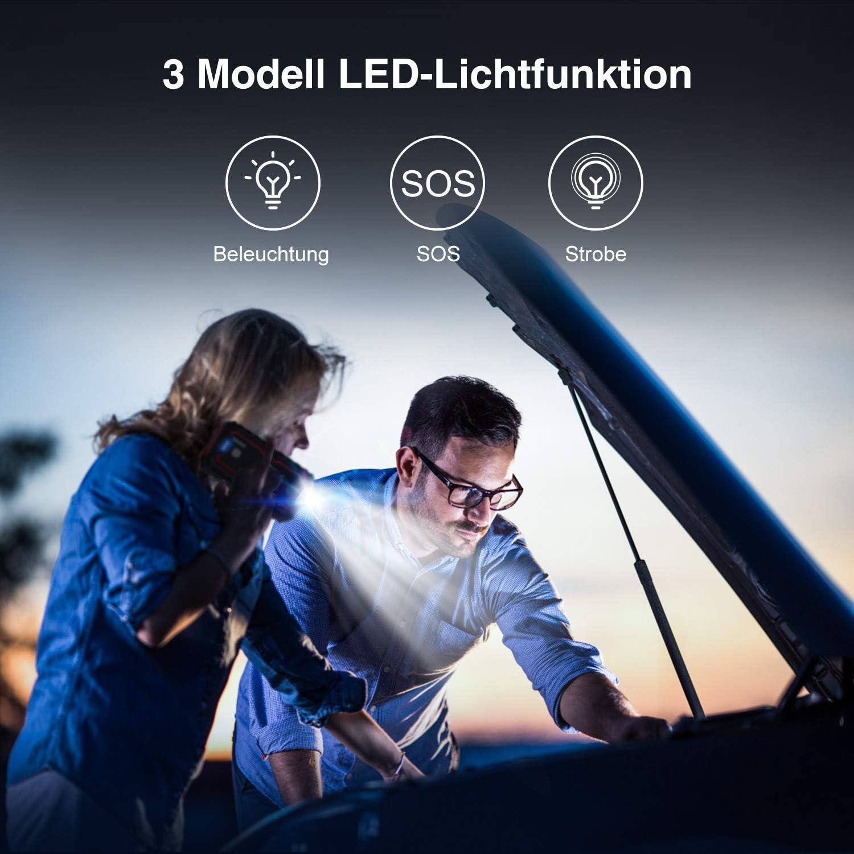 Bis zu 8L Benzin, 7.5L Diesel Anlasser mit Quick Charge 3.0 LED Taschenlampe Dual USB UTRAI Auto Starthilfe Autobatterie 2000A Spitzenstrom 22000mAh Powerbank 12V Auto Starthilfe