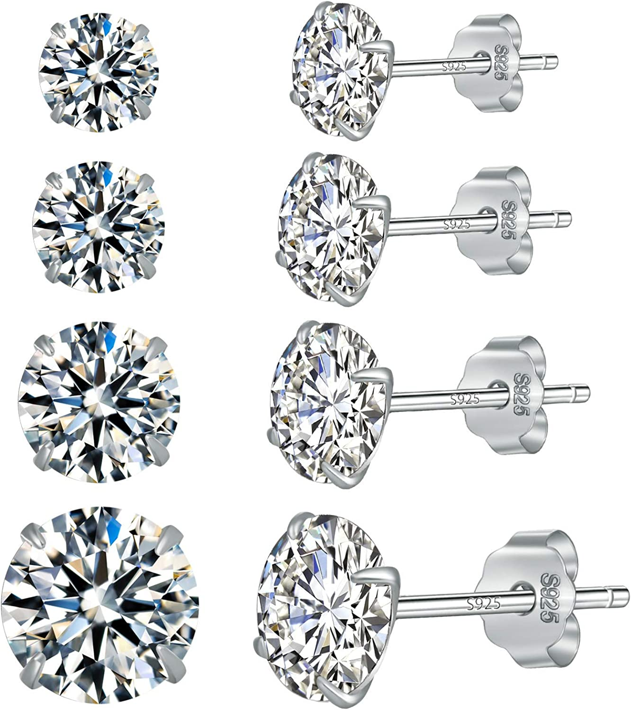 Small 925 Sterling Silver Bird Stud Earrings Stud Earring Set Girls Womens