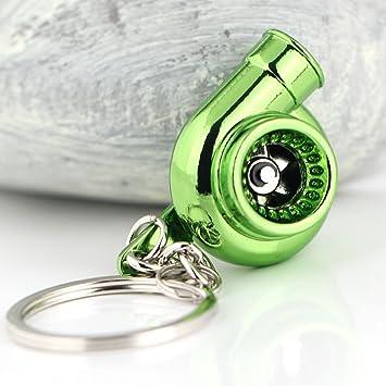 Creative Spinning Llavero, llavero, diseño de turbina de ...
