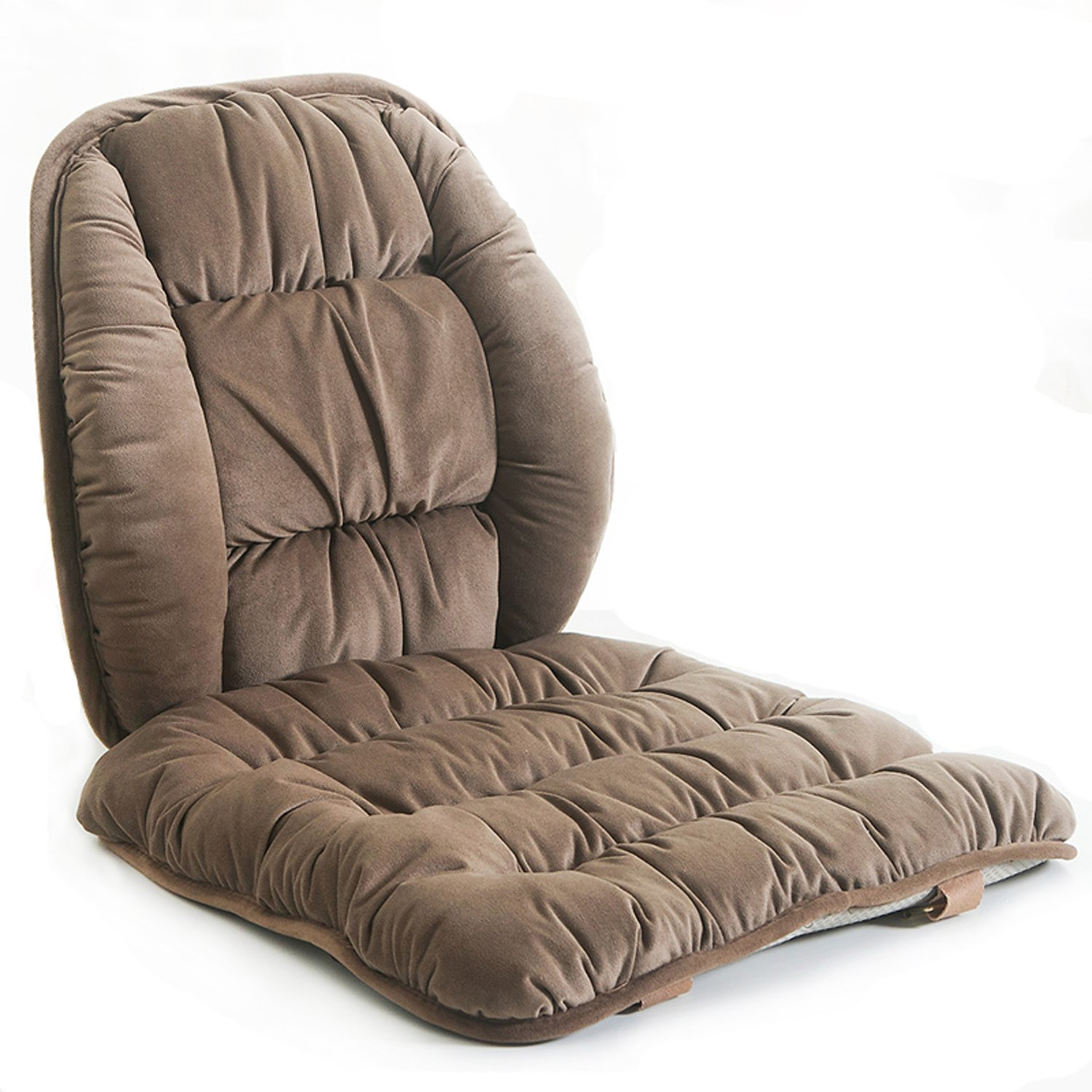 ALIBO Comfy Lumbar Back Support and Nonslip Chair Seat Pads Cushion Pain Relief Back Rest Lumbar Cushion Pillow for Office,Dinning Desk Chair,Car Seats-Coffee