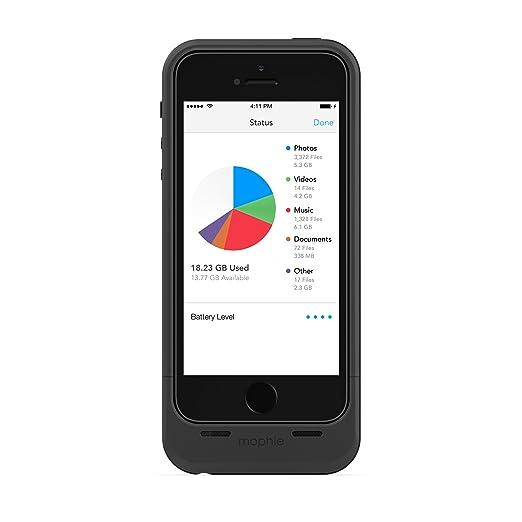 46 opinioni per Mophie Custodie per iPhone 5/5S con memoria Ausiliare da 32 GB, Nero