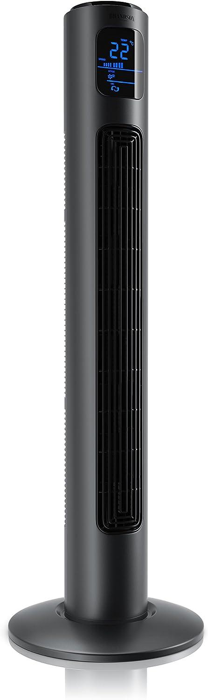Brandson – Ventilador de Torre con Mando a Distancia | Oscillating Tower Fan | 45W | 3 Niveles de Temperatura (Low/Medium/High) + Temporizador + 3 Modos de Funcionamiento + Oscilación Ajustable a 60°