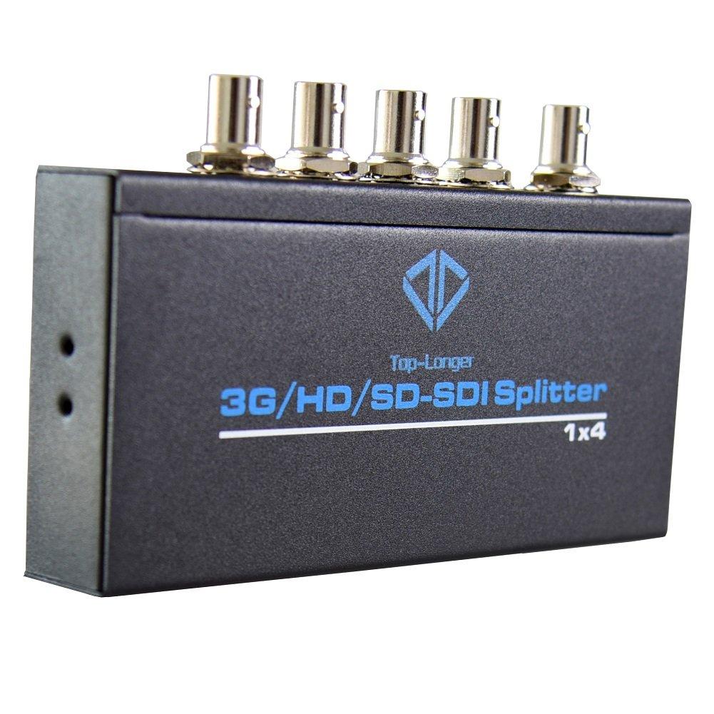 Top-Longer SDI Splitter 3G/HD/SD_SDI Splitter 1 x 4 Video Adapter