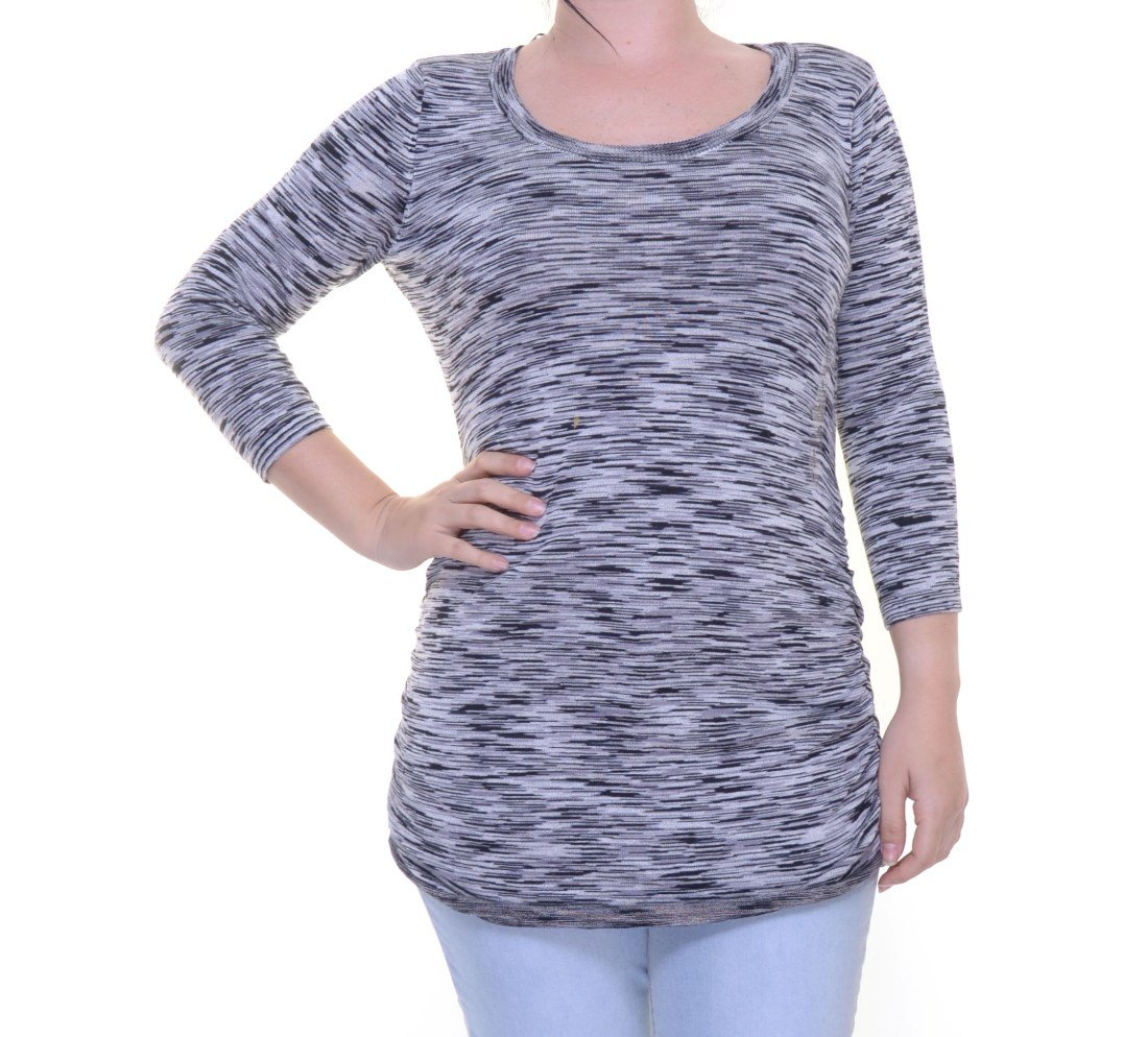 PINK ROSE Gray Space Sweater 3/4 Sleeve ISze L