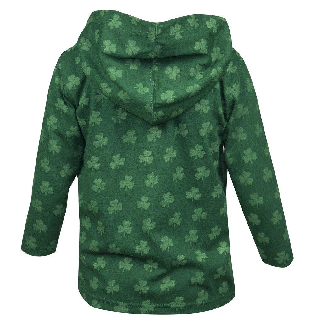 e00a93baa01f Amazon.com  Croker Kids Shamrock Zip Hoodie - Green Cotton Sweater ...