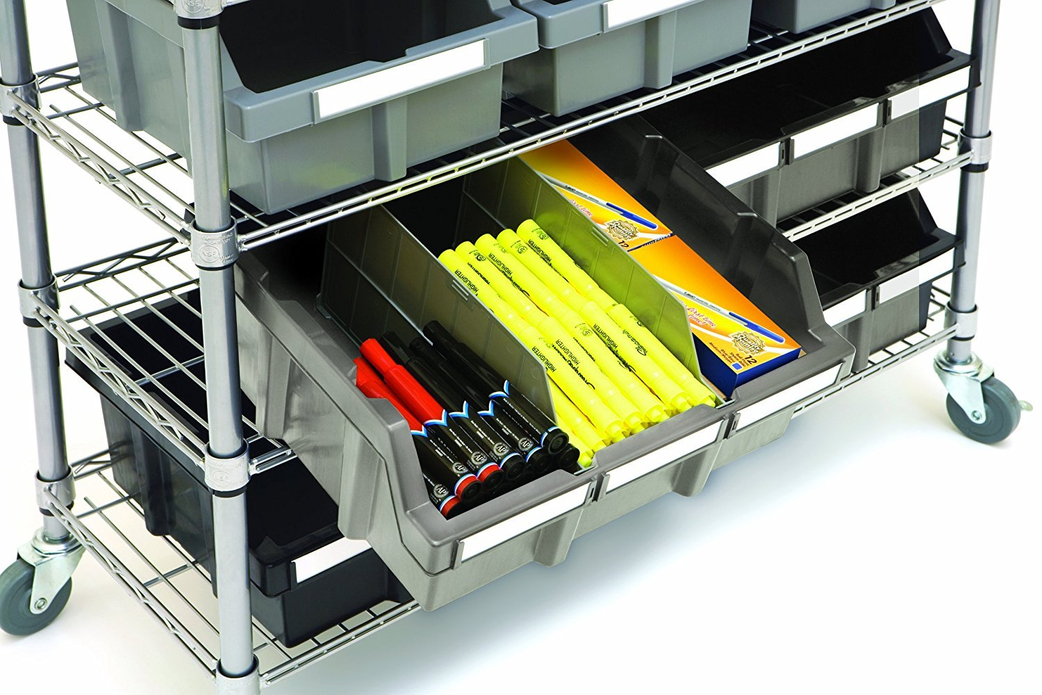 Seville Classics Commercial 7-Tier Platinum/Gray NSF 16-Bin Rack Storage System by Seville Classics (Image #6)