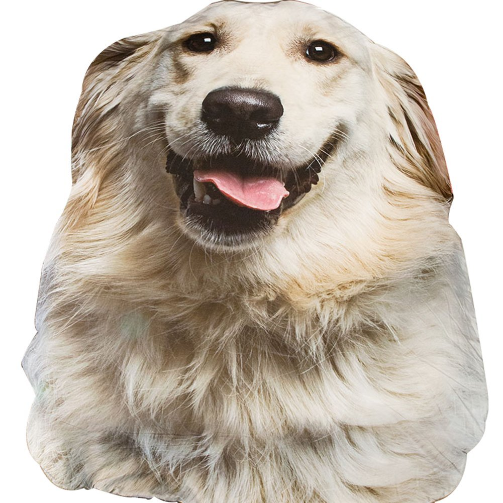 3D Animal Prints Blanket Bedding Dog Shaped Summer Quilt Golden Retriever Comforter Washable Light Quilt