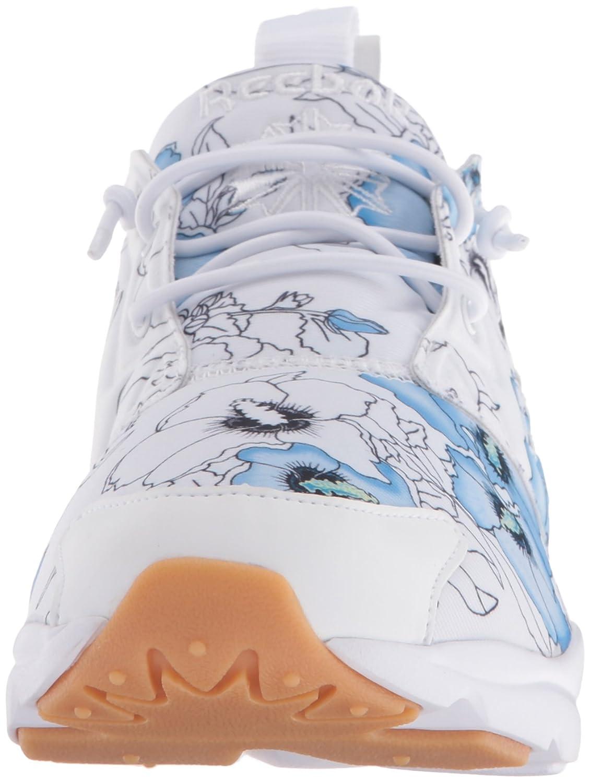 Reebok Women's Furylite FG Fashion Sneaker B01GUS8SQI 7 M US|Floral/White/Black Gum