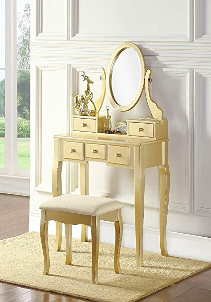 Amazon.com: Vanity Set For Women Make Up Table and Stool ...