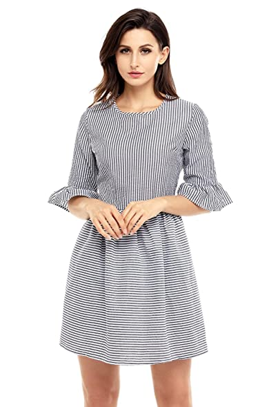 White cute dresses for women with sleeves