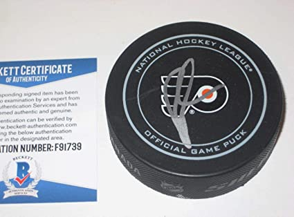 Image Unavailable. Image not available for. Color  Rick Tocchet Autographed  Puck - Official w Beckett COA ... e90c6f74a
