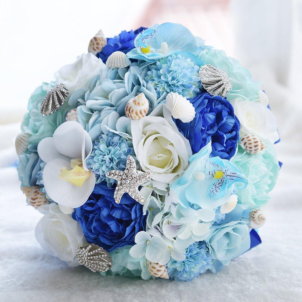 Amazon Com Abbie Home Beach Wedding Bridal Bouquet Holding