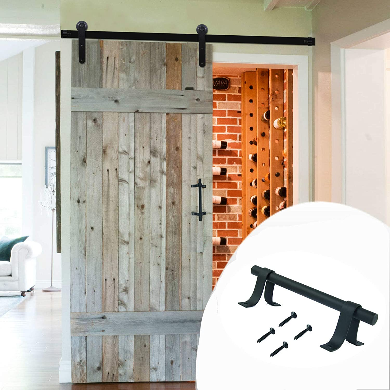 Sliding Closet Gate Cabinet Closet Door/Handle Black Stainless Steel 2 Packs LWZH Sliding Barn Door Pull Handle Set