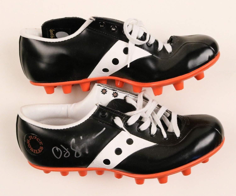 O.J. Simpson Bills Hof Autographed Signed Spot Bilt Juicemobiles Shoes Cleats Box JSA