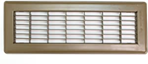 "4"" X 8"" Floor Grille - Fixed Blades Air Grill - Brown [Outer Dimensions: 5.75 X 9.75]"
