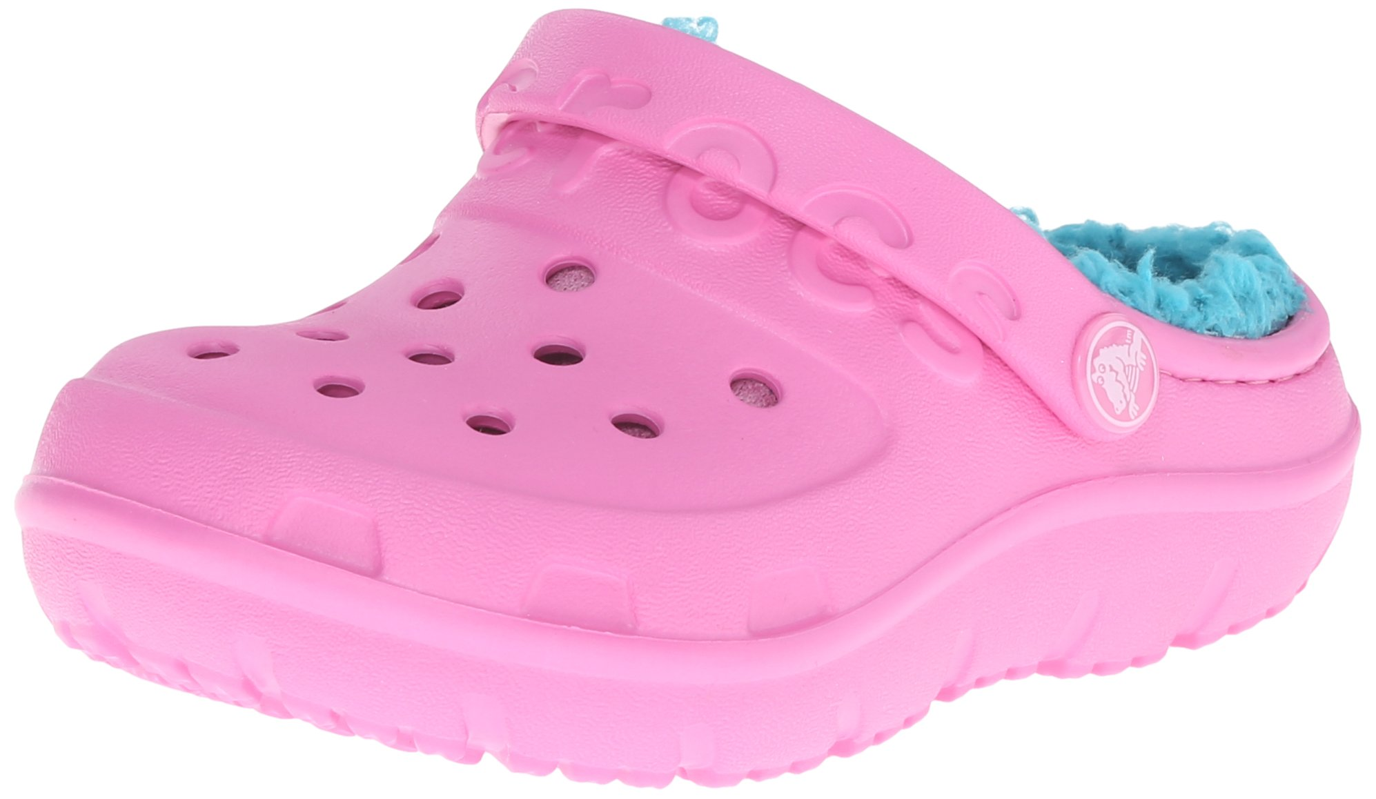 crocs Hilo Lined Clog (Toddler/Little Kid), Party Pink/Turquoise, 11 M US Little Kid
