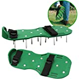 Lawn Aerator Shoes Garden Spikes Sandals with Nylon Buckles and 2 Straps for Aerating Your Lawn or Yard