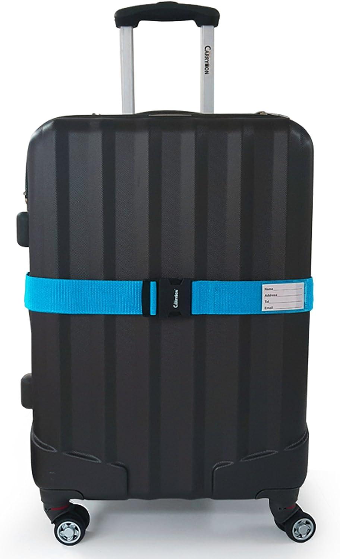 Miami CarryOn Traveler Luggage Strap Superior Strength Light Blue Adjustable Luggage Belt