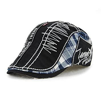 081ba45d Unisex Cotton Washed Beret Hat Buckle Adjustable Paper Boy Newsboy Golf  Gentleman Cap Black