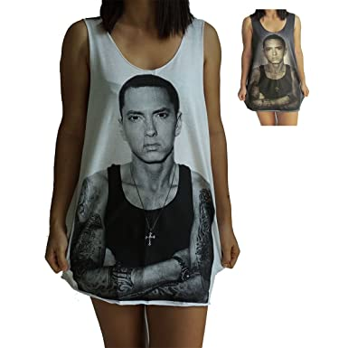 a105bb29146be Eminem Vest Tank-Top Singlet Sleeveless T-Shirt Mens Womens Ladies Unisex  at Amazon Women s Clothing store