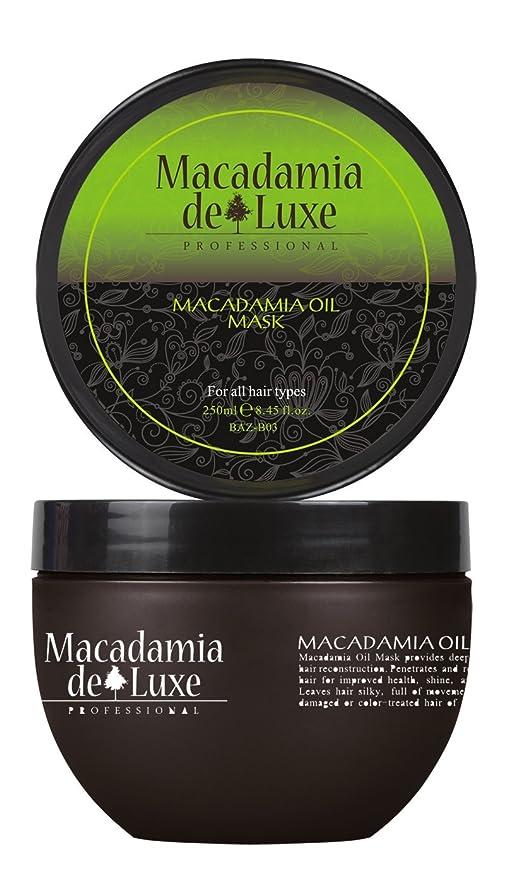 Macadamia DeLuxe Mascarilla de Aceite de Macadamia Cura, 250ml, Cuidado del Cabello Premium