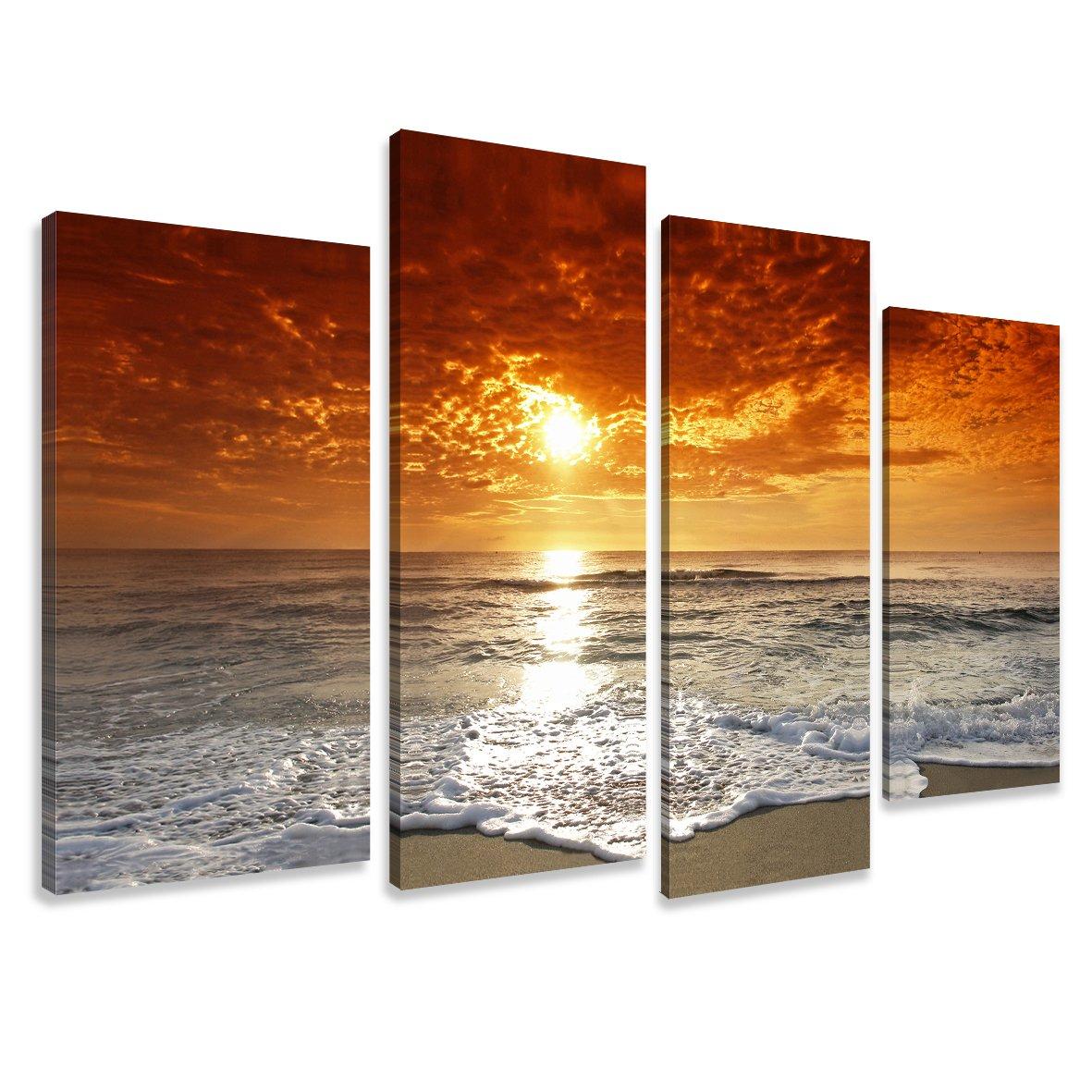 Quadro su tela water 130 x 80 cm 4 tele modello nr XXL 6038. I quadri sono montati su telai di vero legno. Stampa artistica intelaiata e pronta da appendere Visario