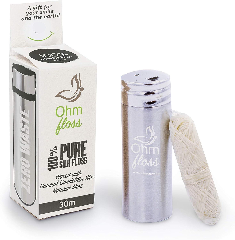 OhmFloss 100% pure silk floss